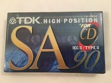 TDK SA 90 Cassette - HiFi - Type II - CASSETTES NEW & SEALED