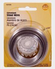 Hillman Steel Wire 110' 18 Gauge Galvanized 25 lb. Multi Use Hanger Craft 123105