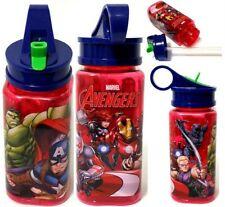 Marvel Avengers 15 oz Plastic WATER BOTTLE with Straw