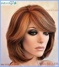 Lace Front Wig Premiun Remy Human Hair CLR P4.27.30 Layered Bob USA Seller 259 B
