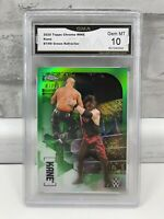 2020 Topps Chrome WWE Green Refractor KANE #35 87/99 GMA Gem Mint 10