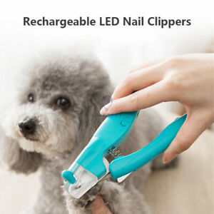 Newest Pet Nail Clippers Rechargeable LED Pet Nail Clipper with Nail File Pet