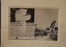Original Vintage Advertisement mounted ready to frame Gale Outboard Motors 1960