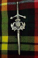 "ST Scottish Kilt Pin Heritage Thistle Antique Finish 4""/Celtic Pins & Brooch"