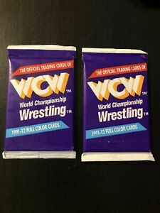 WCW Wrestling Trading Cards (1991). Two Unopened Packs. Sealed