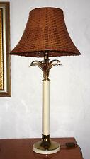 Sehr Schöne Elegante Metall-Rattan Schirm Tischlampe 1 Flammig 84 cm Hoch