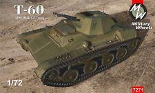 Ruedas militar 1/72 soviético T-60 (ZSU Flak 12,7 mm) # 7271