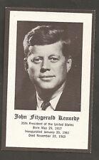 John F. Kennedy Original Funeral Mass Card