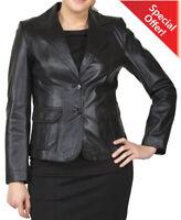 Women's Genuine Lambskin Leather Blazer Slim fit Jacket Designer Leather Coat