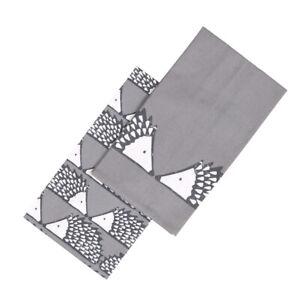 Scion Spike Set 2 Tea Towels Dark Grey Hedgehog Hang Loop Kitchen Patterned