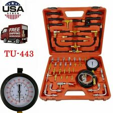 Fuel Injection Pump Pressure Tester Manometer Car Auto Gauge Test Kit 0-140 PSI