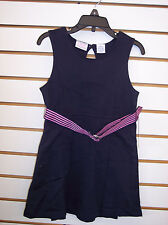 Girls Izod $30 Navy w/ Pink Belt Uniform Dress Size 8 - 14