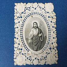 CANIVET Image Pieuse NS Jesus Christ HOLY CARD 19thC Santino