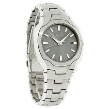 Citizen Eco-Drive 180PR Stainless Steel Gray Dial Mens Watch BM6010-55A