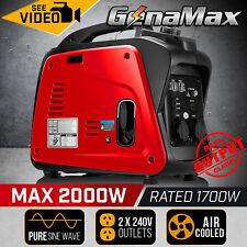 Gentrax Portable Inverter Generators 2.0KW Max 2.0KW Pure Sine Camping Petrol
