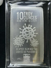 Pandemic 10 oz Bar .999 Silver Made by Envella | Sealed |
