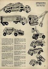 1955 PAPER AD Structo Toy Truck Transport Trailer 66 Tanker Shovel Dump Buddy L