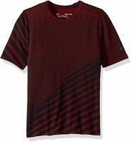Under Armour Big Boys XL Seamless Short Sleeve Tee Shirt Youth RED/BLACK NWT