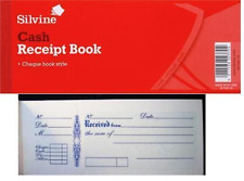 SILVINE CASH RECEIPT BOOK pack of 2 - CHEQUE BOOK STYLE