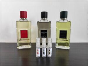 Guerlain Homme / Vetiver / Habit Rouge 2 ml Sample Decant Eau de Parfum Men