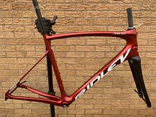 Ridley Fenix SLX freno de disco de Carbono Bicicleta de Carretera Marco cuadro y horquilla-Caramelo Rojo