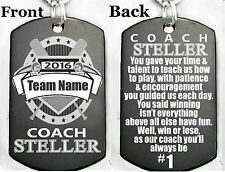 BASEBALL COACH - Dog tag Necklace or Key chain + FREE PERSONALIZATION