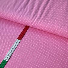 Jerseystoff 2mm Punkte Dots Tupfen Weiß auf Zartrosa gepunktet Jerseys Stoffe