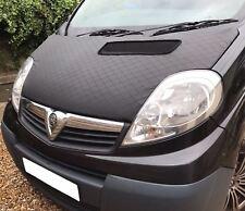 Vauxhall Vivaro Bonnet Bra/Protector Stoneguard Fits 2001-2014 Models (Black)