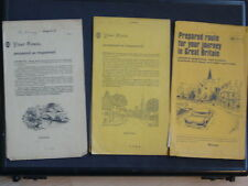 3 xVintage AA Personal Route Planner c.1960's Putney to Manchester/Lydd/Southend