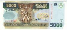 **   COSTA  RICA     5000  colones   2005   p-268Ab    UNC   **