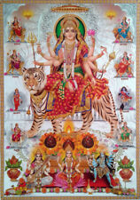 Durga Maa Avatars Kali Saraswati Lakshmi - POSTER Big Size: 19x27 inches