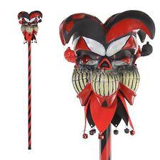 Krazed Jester Cane Staff Pyscho Evil Circus Joker Fancy Dress Costume Accessory