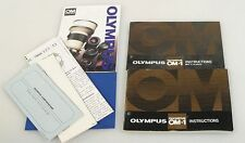 Olympus Om-1, Lens And Informational Guides, Group Of 4