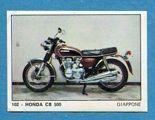 MOTO 2000 - Panini 1972 -Figurina-Sticker n. 102 - HONDA CB 500 -Rec