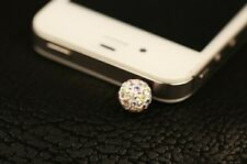 white ball Fashion Water crystal Dust Plug Cover Stopper Charm iPhone 5 4/4s