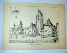 Munzingen Freiburg Kirche Sankt Stephan Gigiliturm Lederle 1884
