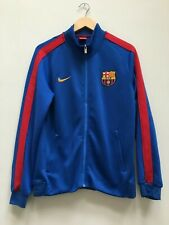 FC BARCELONA BLUE NIKE FOOTBALL ZIP UP TRACKSUIT TOP SIZE SMALL