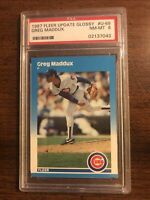 1987 FLEER UPDATE GLOSSY GREG MADDUX Rookie PSA 8 Chicago Cubs Braves HOF