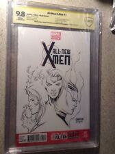 All-New X-Men 1 CBcs 9.8 Ss Sketch Of Phoenix By Jordan Gunderson Inked By Mousa