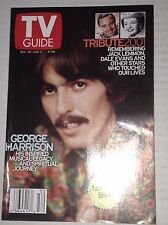 Tv Guide Magazine George Harrison December 29-January 4, 2002 042517nonrh