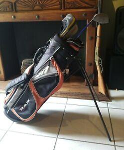 RAM Light Golf Carry Bag, (1) Graphite Driver, (1) Metal Wood (4) Warmers. Nice