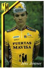 CYCLISME carte cycliste JENS JENTNER équipe PUERTAS MAVISA