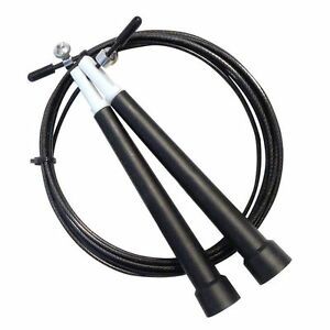Adjustable Skipping Rope Wire Jumping Speed Exercise Fitness Aerobic Workout Gym