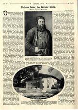 Andreas Hofer der Befreier Tirols Entwicklung Kampf Todesurteil Illustr.v.1907/8