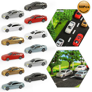 50pcs OO Scale Model Car Plastic 1:76 Building Train Scenery C75