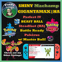 SHINY Gigantamax Machamp GMax HA ✨Master Ball✨6IV Pokemon Sword Pokemon Shield