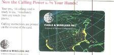 TK Telephonkarte/PhoneCard $3. CWI Corporate: USA Map on Black Globe With Light