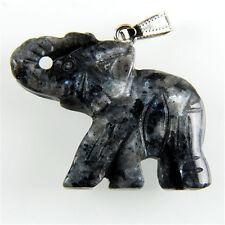 Charming Carved Elephant Labradorite Pendant Bead M-DJM126RL
