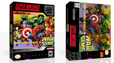 Marvel Super Heroes War of the Gems SNES Game Case Box + Cover Art (No Game)