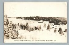 Hudson Bay Co. Fox Ranch RPPC Havre St. Pierre QUEBEC Rare Antique Photo CPA '32